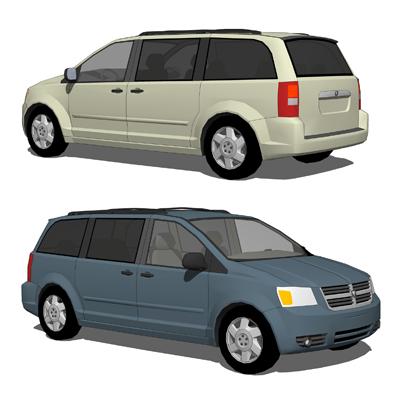 Dodge Grand Caravan 3D Model - FormFonts 3D Models & Textures