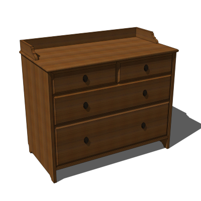 Very IKEA Leksvik Chest of Drawers 3D Model - FormFonts 3D Models  SX46
