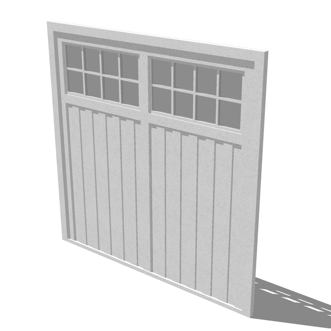 Attractive BARRATT HOMES STANDARD GARAGE DOOR 3D Model