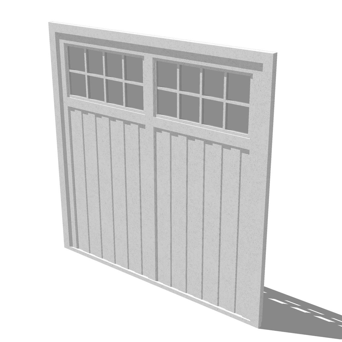 Revit garage door ppi blog barratt homes standard garage door model rubansaba