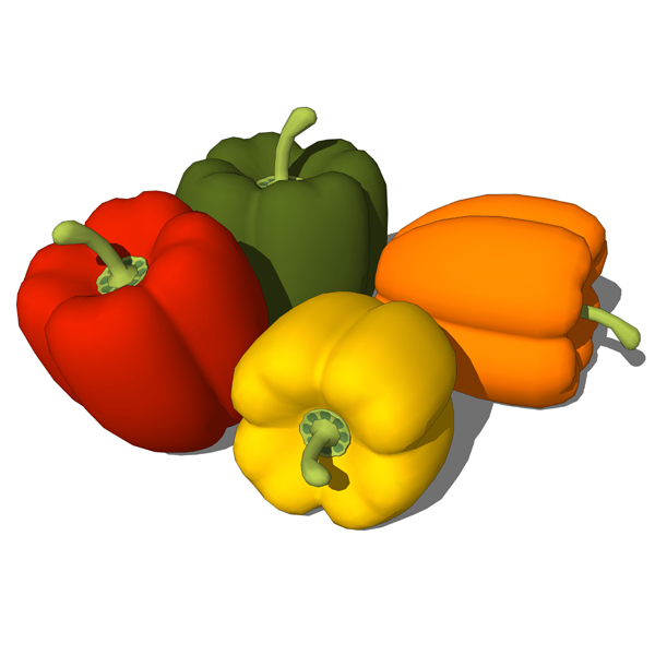 Bell peppers to add a color splash to your kitchen....