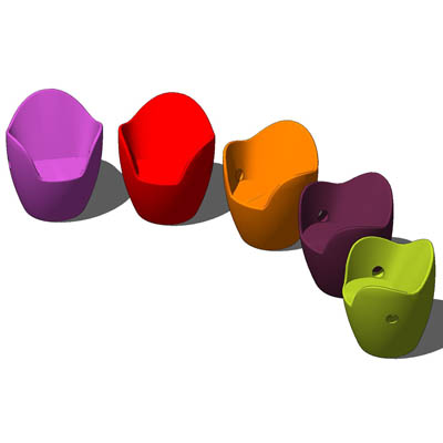 Colourful plastic chairs.  sc 1 st  FormFonts & Plastic nesting chairs 3D Model - FormFonts 3D Models u0026 Textures