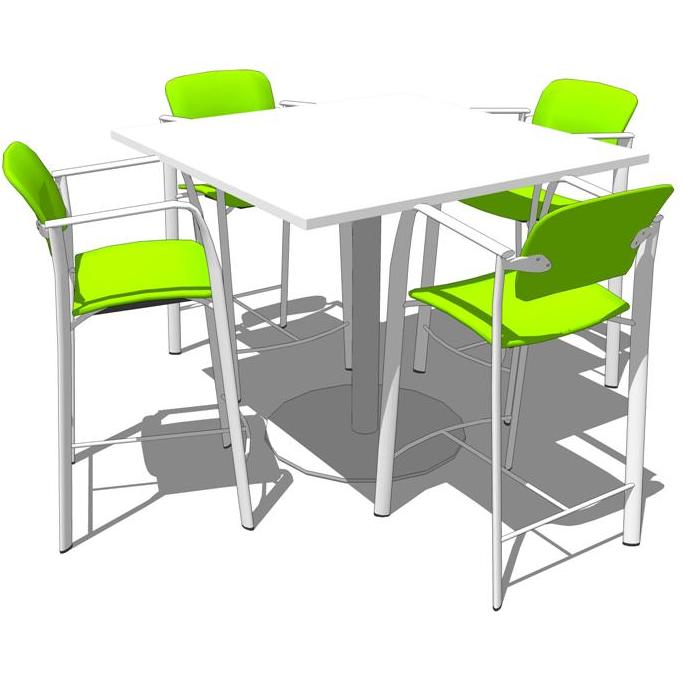 Steelcase groupwork tables 3d model formfonts 3d models amp textures