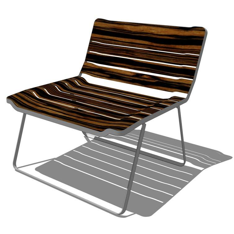 Blu Dot   Blur Lounge Chair. Springy Wooden Slats .
