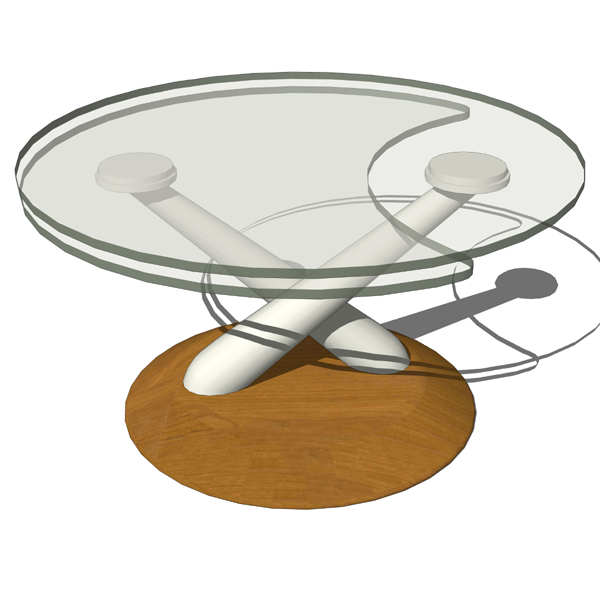 Hula is a glass-topped extendible coffee table wit....