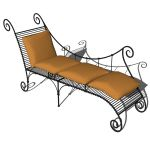 Wrought iron day bed by Joseph Evans Iron Work.