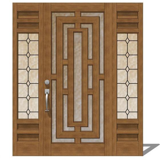 Door model 141 3d model formfonts 3d models textures for Front door models
