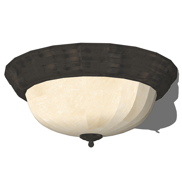 Melon Ceiling Light Fixtures 3D Model