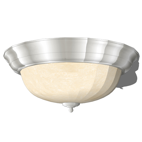 Melon close to ceiling light fixtures in bronze an....