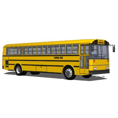 Thomas bus set 3d model formfonts 3d models amp textures