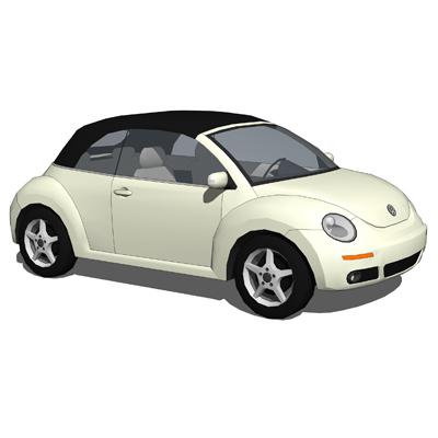 vw beetle convertible 3d model formfonts 3d models. Black Bedroom Furniture Sets. Home Design Ideas
