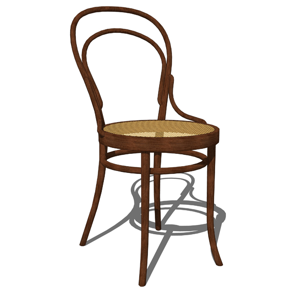 Thonet Chairs 3D Model FormFonts Models amp Textures