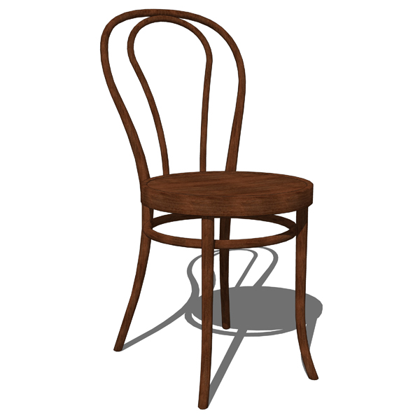 Thonet Chairs 3D Model FormFonts 3D Models Textures