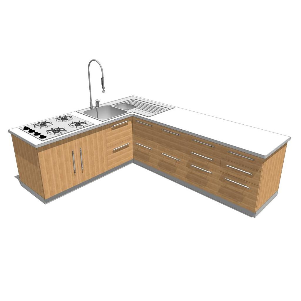 Doga Kitchen shown in light oak..
