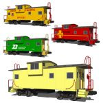 A caboose (US railway terminology) or brake van or...
