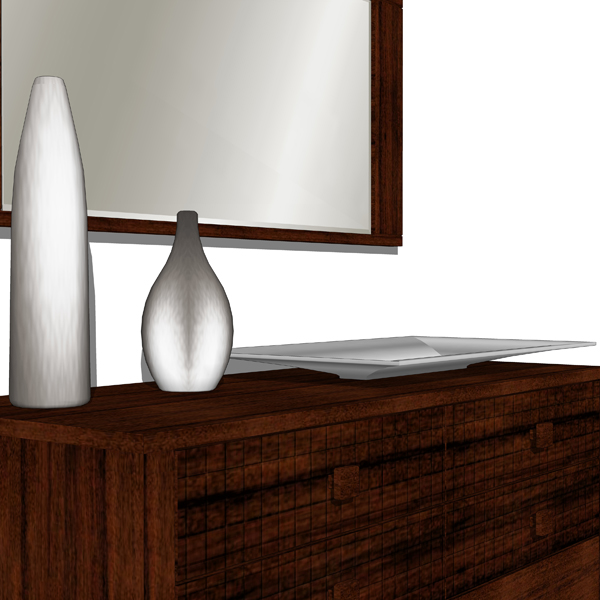 Decorative space fillers. Model includes two vases....