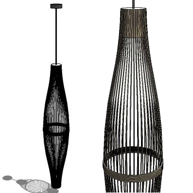 Bamboo Lamp 3d Model Formfonts 3d Models Amp Textures