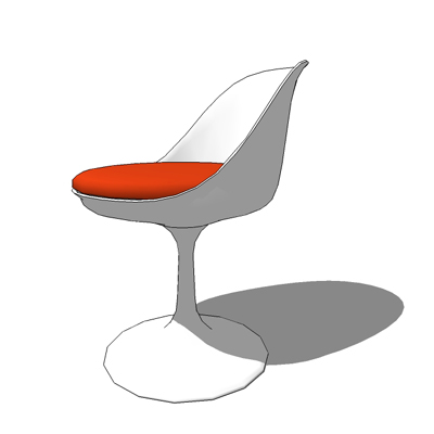 Tulip Side Chair With Seat Cushion, Swivel Action .