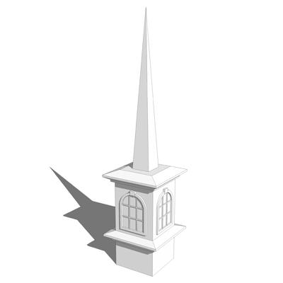 Church steeple 6 3d model formfonts 3d models textures a church steeple based on a steeple by superior fi altavistaventures Images