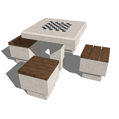 Model Based On A Game Table Set From Alpha Precast.