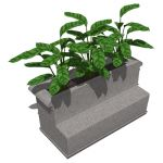 Model based on the Precast Bench & Planter by ...