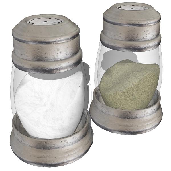 salt and pepper shakers 3d model formfonts 3d models