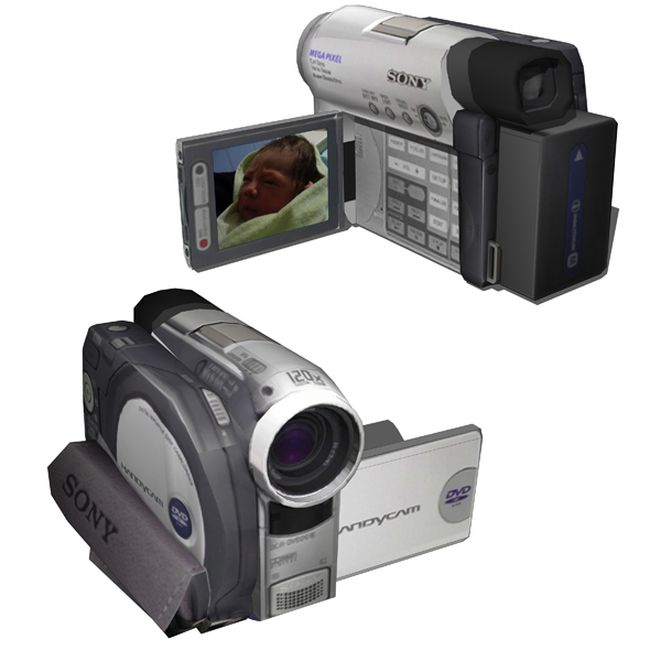 Sony´s DVD Handycam Camcorder. Texture mappe....