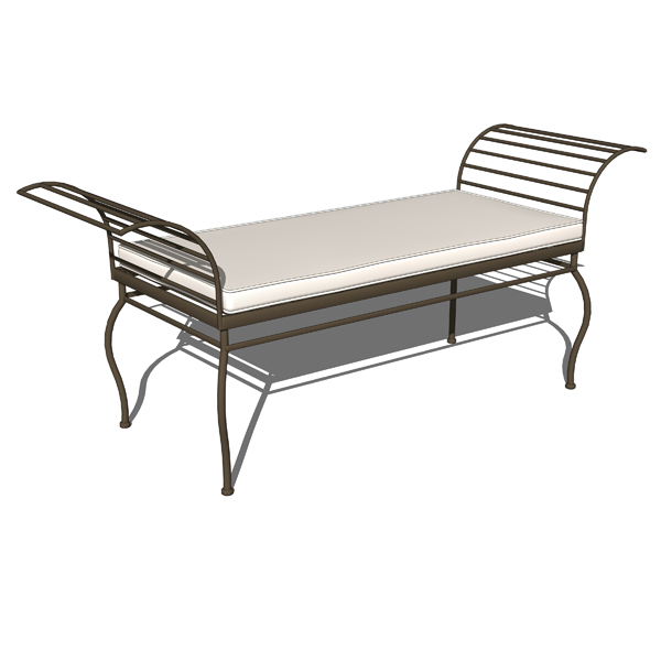 Wrought iron garden set 3d model formfonts 3d models textures male models picture Wrought iron outdoor bench