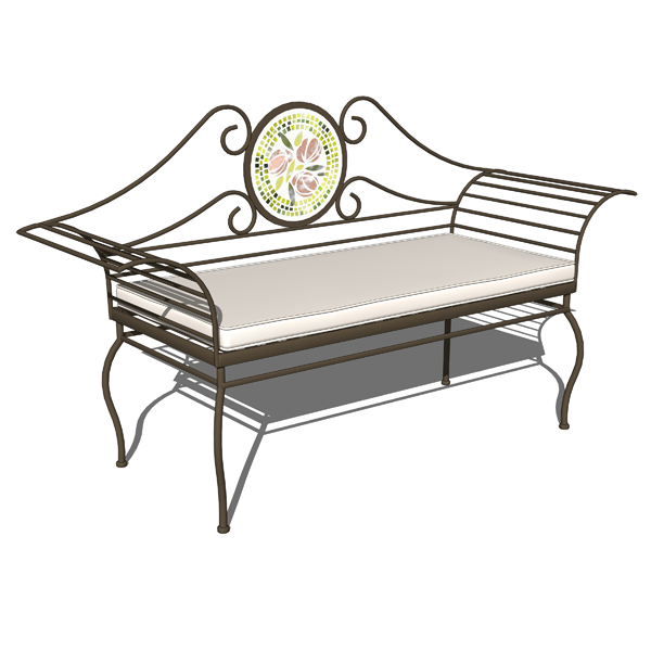 Wrought iron benches 3d model formfonts 3d models textures Wrought iron outdoor bench