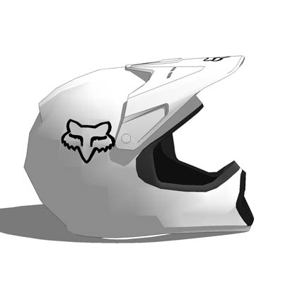 Motocross helmets by Fox. Simplified design is geo....