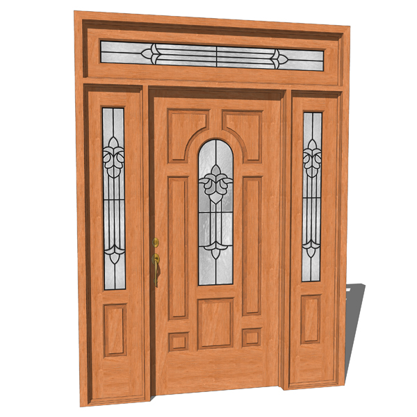 Margate house door in 4 different prehung styles b.