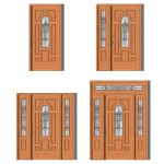 Margate house door in 4 different prehung styles b...
