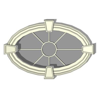 Oval Window 3d Model Formfonts 3d Models Textures