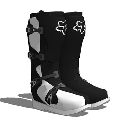 Motorcycle boots by Fox Sports.