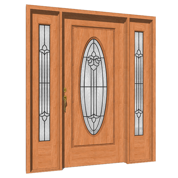 Sienna door 3d model formfonts 3d models textures for Door models for house