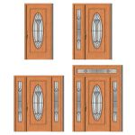Sienna house door in 4 different prehung styles by...