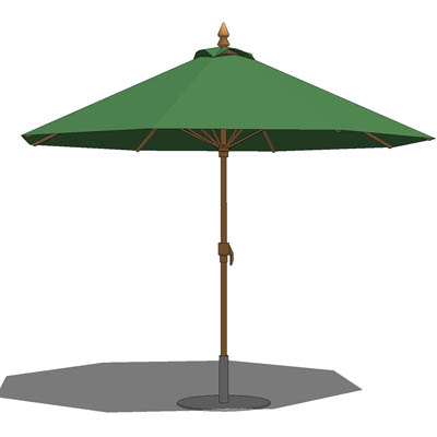 Large Standard Cafe/patio Umbrella With Base.