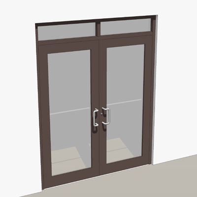 Bronze storefront entry with two 3-0 x 7-0 doors. & Double door storefront entry. 3D Model - FormFonts 3D Models \u0026 Textures