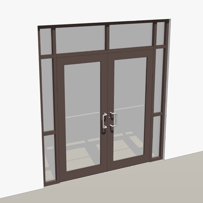 Bronze storefront entry with two 3-0 x 7-0 doors. & Double door storefront entry. 3D Model - FormFonts 3D Models ... pezcame.com