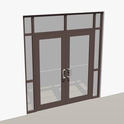 Double Door Storefront Entry 3d Model Formfonts 3d