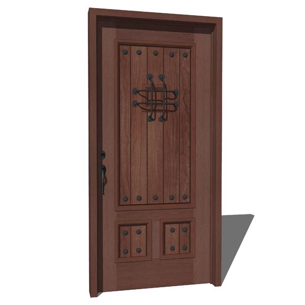 Masonite 3 Panels Door 3d Model Formfonts 3d Models
