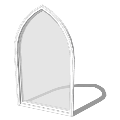Marvin 3 4 X 6 0 Wood Gothic Window 3D Model