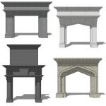Fireplace Set 4.