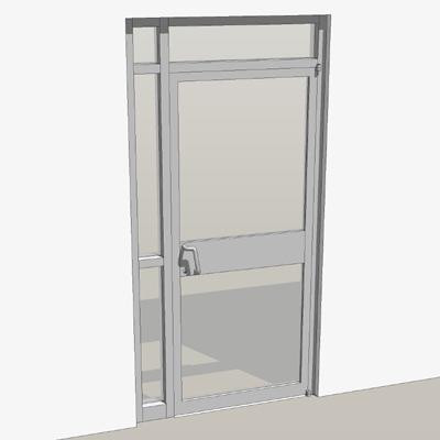 Single door storefront entry 3D Model FormFonts 3D Models