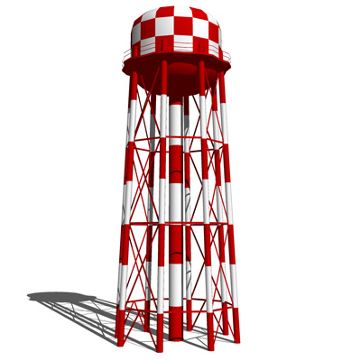 how to draw a water tower