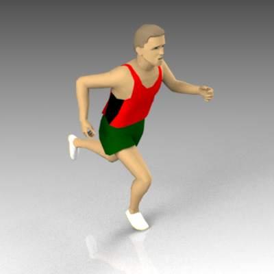 Runner 01 3D Model - FormFonts 3D Models & Textures