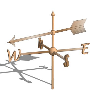 Weather Vane - Simple 3D Model - FormFonts 3D Models ...
