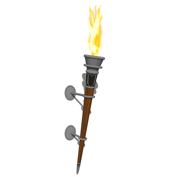 Medieval Wall Torches Set 3d Model Formfonts 3d Models