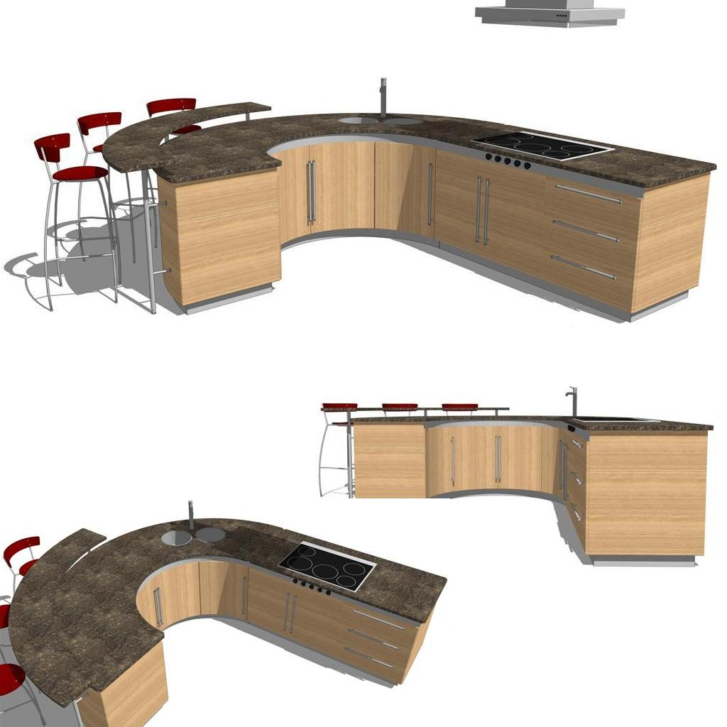 Integra Kitchen Set 3d Model Formfonts 3d Models Textures