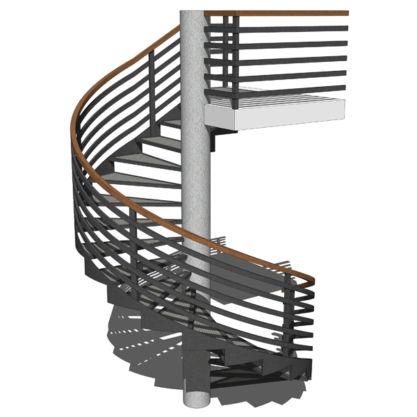 Spiral stairs 3D Model - FormFonts 3D Models & Textures
